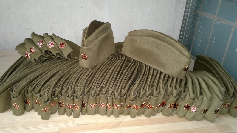 Пилотки солдатские военные 1941 года со звёздочкой